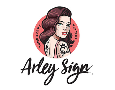 Arley Sign Temporary Tattoo— Logo & Branding