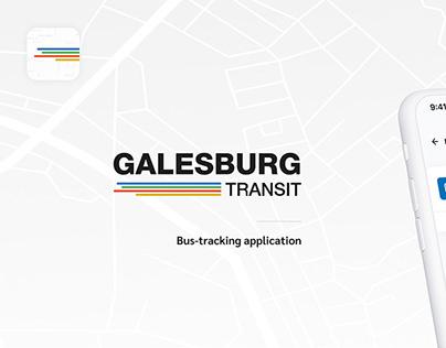 Galesburg transit. Bus-tracking app.