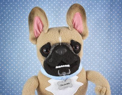 Custom dog toys based on photos. January - June 2015