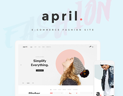 April - Ecommerce Colorful Wordpress Theme