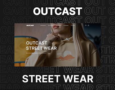 Outcast - website redesign