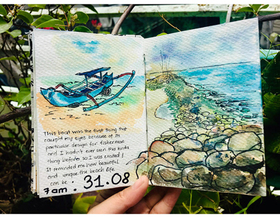 Bali Travel Sketchbook