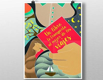 Cartel para el día del libro