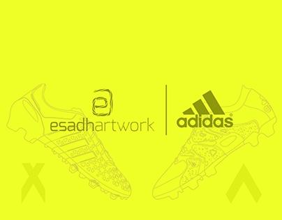 Adidas Football Boots Illustration