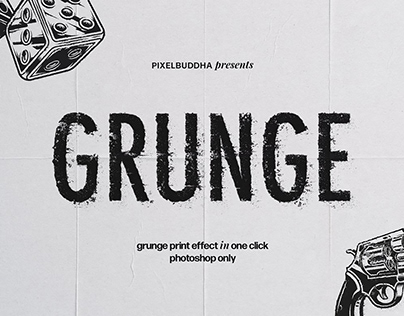Grunge Print Photoshop Effect