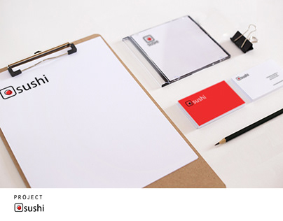 corporate identity to a sushi restaurant