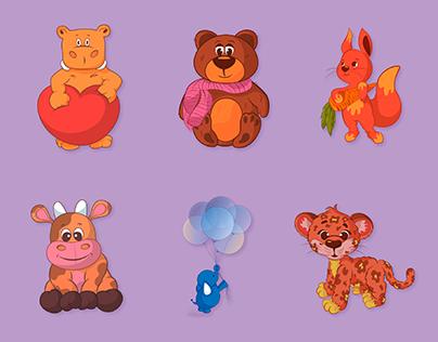 Kids character design (cute animals)