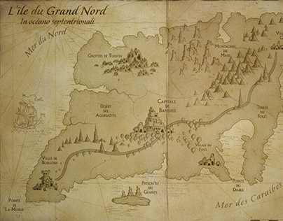 Ancienne carte marine / map / Photoshop CC / 2016