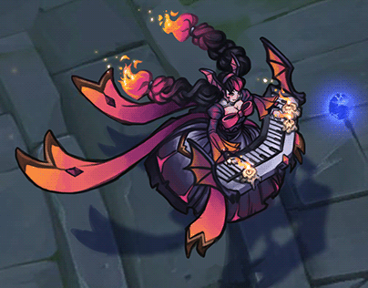Bewitching Sona Fan Skin Concept
