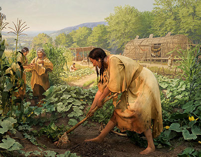 Ancient Agriculture Mural & Diorama
