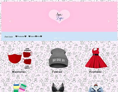 Website Loja De Roupas