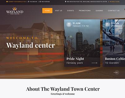 Wayland Website mockup design