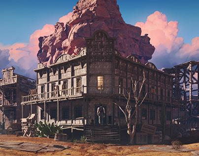 Wild West canyon village