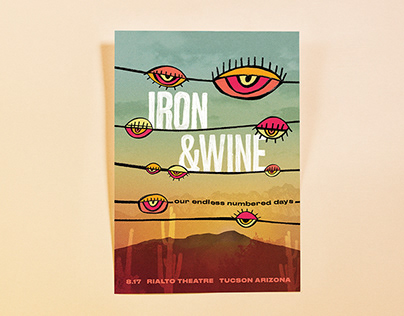 Our Endless Numbered Days - Iron & Wine Gig Poster