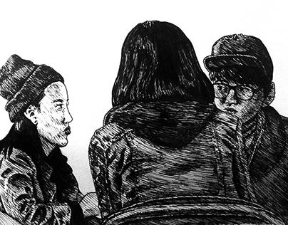 Figure Studies (Ink Drawings)