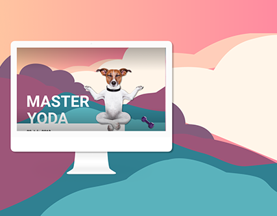 Landing page for a yoga fest