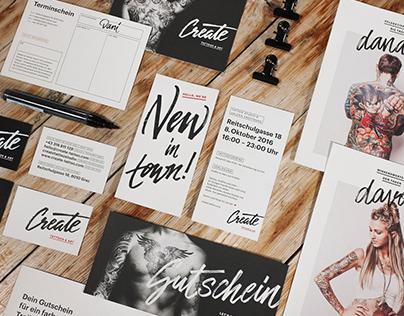 Corporate Design Create Tattoo & Art Space