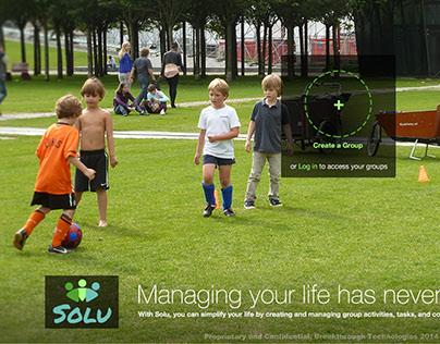 Solu web app mockups