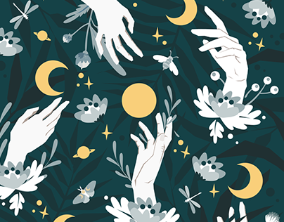 Reach out for the Moon pattern design