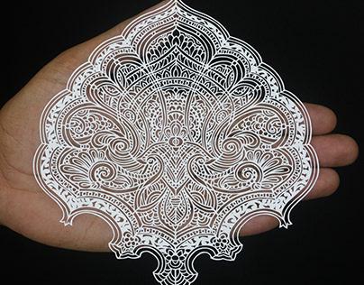 Paisley Papercuts | Papercut by Parth Kothekar