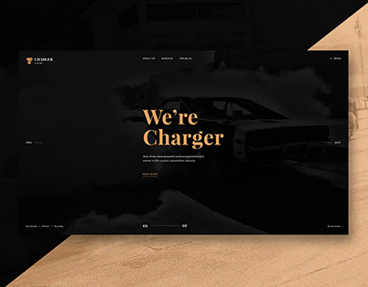 Charger Customs - Free Psd Website Template