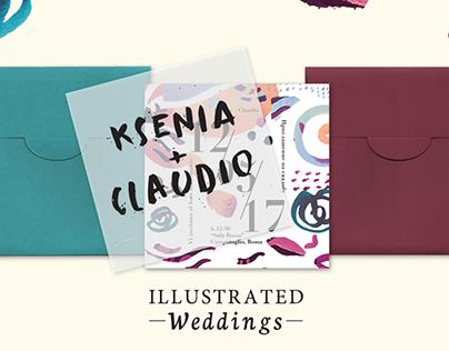 Illustrated Weddings (Ksenia + Claudio)