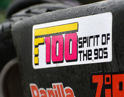 F100 Spirit of the 90s: Brand Identity and Application