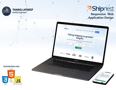 Shipnest - Shipping Web App (Front End Dev)