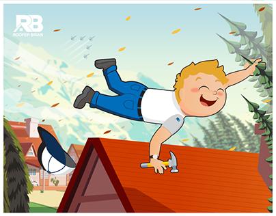 Roofer Brian - Illustration