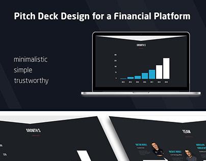 Pitch Deck for a Financial Platform