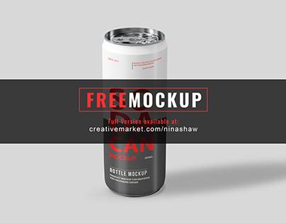 Free Soda Can 355ml Mockup