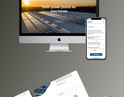 Application for calculating the cost of solar panels