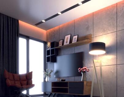 Salon Tasarımı,İç Mekan Tasarımı 3D Modelleme&Render