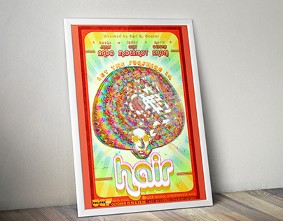 Hair, Presented by Theatre UCF • Event Poster
