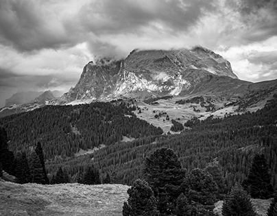 Mountain in B&W