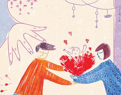 Ilustración Libro | Sueños de familia