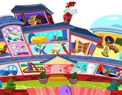 Children's show background designs
