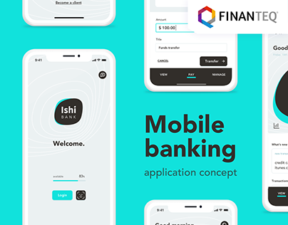 UI/UX mobile banking application concept