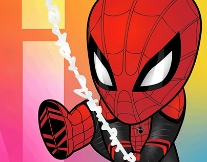 Illustrator on the iPad: Spider-man