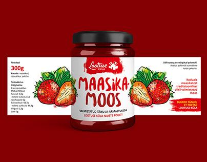 Jam jar label design