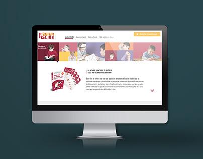 Création d'identité et Webdesign pour Bien Lire