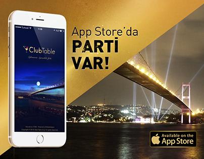 ClubTable Mobil Uygulama Sosyal Medya Tasarımları-II
