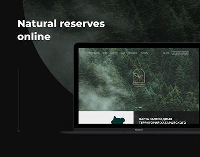 Natural reserves UI/UX