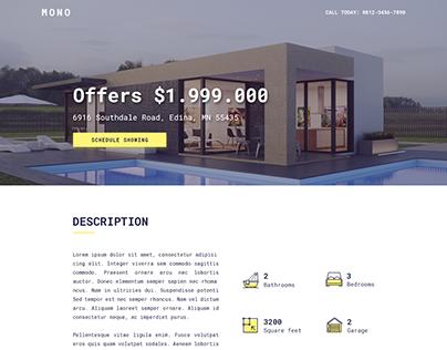 Mono Single Property Psd Template
