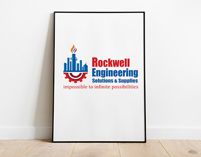 Rockwell engineering logo design