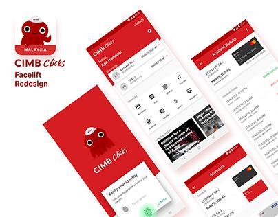 CIMB Clicks Malaysia App Facelift Redesign