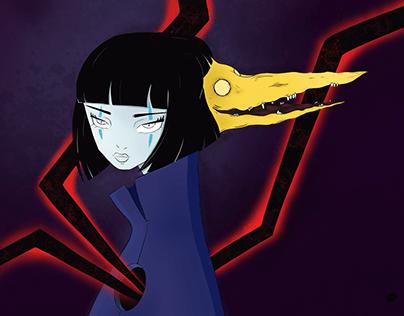 Neko and her demon.