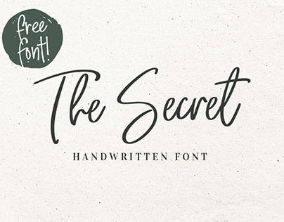 The Secret - Free Handwritten Font