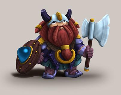 CG Viking/ concept art/ game dev illustration