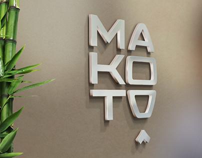 MAKOTO Japanese restaurant logo concept